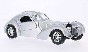 【送料無料】模型車 モデルカー スポーツカーブガッティシルバーハンドルbugatti atlantic, silver, rhd, 124, bburago