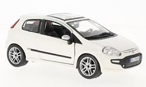 【送料無料】模型車 モデルカー スポーツカーフィアットevoホワイト124bburagofiat punto evo, white, 124, bburago