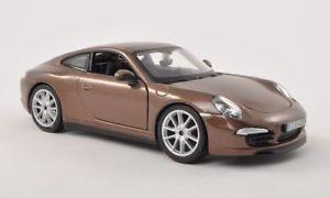 【送料無料】模型車 モデルカー スポーツカーポルシェカレラメタリックブラウンporsche 911 991 carrera s, metallic brown, 124, bburago