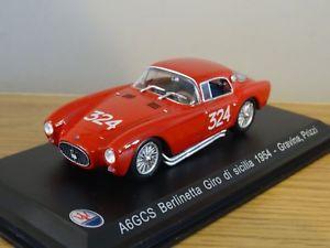 【送料無料】模型車 モデルカー スポーツカーマセラッティa6gcs berlinetta 1954 143ジsiciliaグラビーナprizzimaserati a6gcs berlinetta 1954 143 giro di sicilia gravinaprizzi