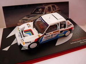 【送料無料】模型車 モデルカー スポーツカーネットワークラリースペインプジョーレースres4m car 143 ixo rally spain peugeot 205 t16 a zanini race 1985