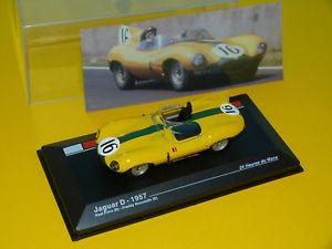 【送料無料】模型車 モデルカー スポーツカージャガー#ルマンネットワークjaguar type d 1957 16 24h du mans 143 ixoneuve en boite h
