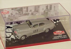 【送料無料】模型車 モデルカー スポーツカープジョーラリーモンテカルロpeugeot 203 rallye monte carlo 1960 143 g87