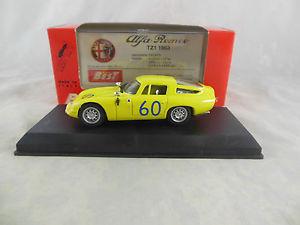 【送料無料】模型車 モデルカー スポーツカー60イエローtargaフロリオ1965モデル9061アルファロメオtz1 zagatobest model 9061 alfa romeo tz1 zagato in yellow targa florio 1965 racing no 60