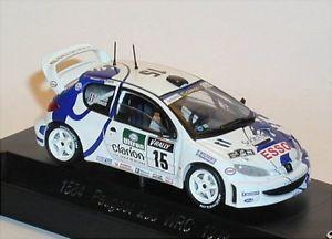 【送料無料】模型車 モデルカー スポーツカープジョーラリーラリードフランスpeugeot 206 wrc 15 vrally rally de france 1999