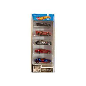 【送料無料】模型車 モデルカー スポーツカーホットホイールリーグhot wheels 5 veicolo justice league