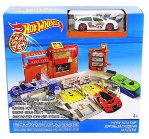 【送料無料】模型車 モデルカー スポーツカーホットホイールピザhot wheels poppin039; pizza shop