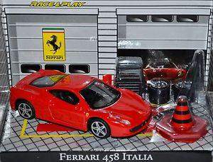 【送料無料】模型車 モデルカー スポーツカーフェラーリイタリアロホロホレースferrari 458 italia 200915 rojo rojo 143 bburago race amp; play