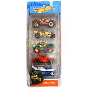 【送料無料】模型車 モデルカー スポーツカーホットホイールラリーhot wheels 5 veicolo giungla rally