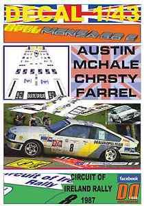 【送料無料】模型車 モデルカー スポーツカーデカールオペルモンツァオースティンアイルランドラリーマクヘールdecal 143 opel monza gse austin mchale circuit of ireland rally 1987 5th 06
