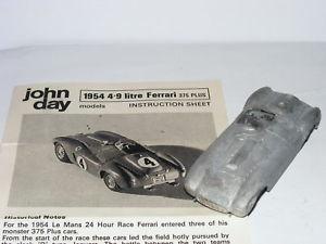 【送料無料】模型車 モデルカー スポーツカージョンデイモデルフェラーリプラスルマン#ホワイトメタルキットjohn day models ferrari 375 plus 1954 le mans 4 white metal kit 143