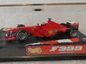 【送料無料】模型車 モデルカー スポーツカーホットホイールエディーアーバインフェラーリhot wheels 143 eddie irvine ferrari f399 f1 1999