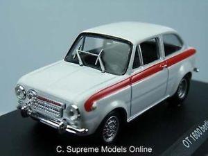 【送料無料】模型車 モデルカー スポーツカーフィアットアバルトモデルカーfiat abarth ot1600 berlina 1964 143rd model car white colour example t3412z