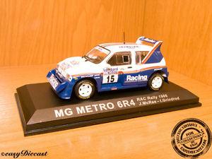 【送料無料】模型車 モデルカー スポーツカーマクレーラリー#;#mg metro 6r4 6r4 143 mcraegrindrod rac rally039;86 15
