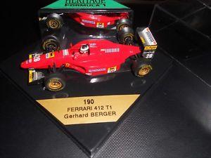【送料無料】模型車 モデルカー スポーツカーオニキスフォーミュラフェラーリゲルハルトベルガーモデルミントonyx heritage formula 1 ferrari 412 t1 gerhard berger model *mint* free pamp;p