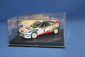 【送料無料】模型車 モデルカー スポーツカートヨタカローララリーvitesse toyota corolla wrc rally 1999 item number skm99073