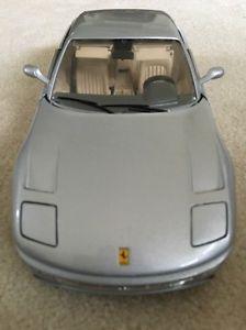 【送料無料】模型車 モデルカー スポーツカーフェラーリグアテマラシルバーボックスferrari 456gt 1992 118 silver burago no box