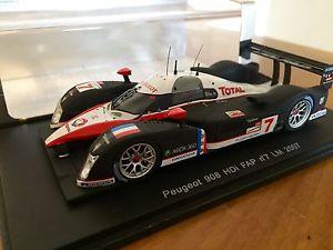 【送料無料】模型車 モデルカー スポーツカースパークビルヌーブプジョーspark 143 villeneuve, gene, minassian, peugeot 908 hdi 2007