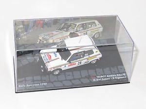 【送料無料】模型車 モデルカー スポーツカータルボットラリーサンレモ143 talbot samba rallye  rally sanremo 1983 gdel zoppo