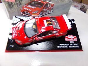 【送料無料】模型車 モデルカー スポーツカープジョーモンテカルロミニチュアコレクションpeugeot 307 wrc montecarlo 2005 car miniature 143 collection