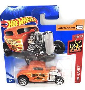 【送料無料】模型車 モデルカー スポーツカーホットホイールフォードショートカードhot wheels 32 ford  car toy hw flames 1997 short card