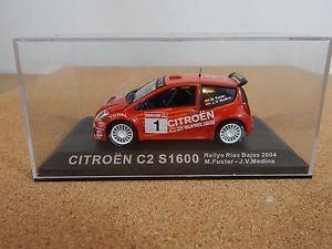 【送料無料】模型車 モデルカー スポーツカーネットワークシトロエンバハメディナixoaltaya citroen c2 s1600 rallye rias bajas 2004 mfusterjv medina 143