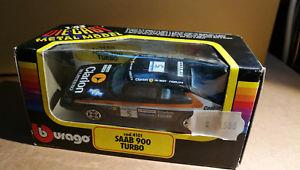 【送料無料】模型車 モデルカー スポーツカーサーブターボボックスカーモデルカーミントsaab 900 turbo 4101 burago bburago 143 car model cars mint in box