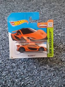【送料無料】模型車 モデルカー スポーツカーホットホイールマクラーレンオレンジワークショップhot wheels mclaren p1 orange 2015 hw workshop