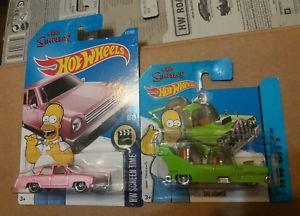 【送料無料】模型車 モデルカー スポーツカーホットホイール×シンプソンズファミリーカーhot wheels ×2 the homer and the simpsons family car