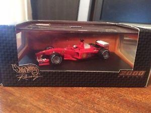 【送料無料】模型車 モデルカー スポーツカーホットホイールレーシング#スケールフェラーリミハエルシューマッハhot wheels f1 racing 2000 26748 143 scale ferrari michael schumacher boxed