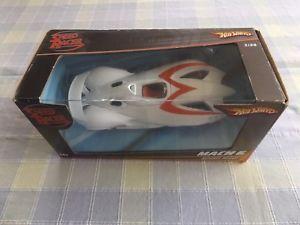 【送料無料】模型車 モデルカー スポーツカーマテルホットホイールスピードレーサーマッハモデルカーバージョンmattel hot wheels m5978 2008 speed racer mach 5 model car movie version 124th