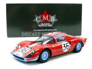 【送料無料】模型車 モデルカー スポーツカーフェラーリディノクーペルマンcmr 118 ferrari dino 206 s coupe le mans 1966 cmr039