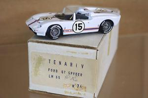 【送料無料】模型車 モデルカー スポーツカーモデルルマンフォードスパイダートランティニャンリジェリタイヤtenariv models le mans 1965 ford gt spyder car 15 trintignant ligier dnf nj