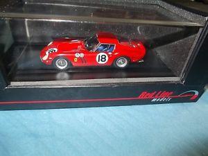 【送料無料】模型車 モデルカー スポーツカーフェラーリデイトナレッドラインrare 1963 ferrari 250 gto daytona 3 hours 1st winner 143 redline