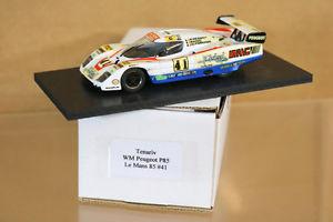 【送料無料】模型車 モデルカー スポーツカーモデルルマンプジョーリタイヤtenariv models le mans 1985 wm peugeot p85 car 41 pessiot anic fornage dnf nj