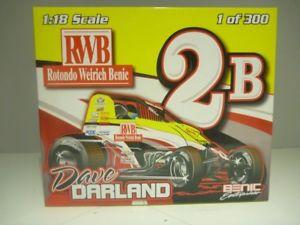 【送料無料】模型車 モデルカー スポーツカースケールデイブロトンドスプリントカー118 scale ramp;r dave darland rotondo weirich benic sprint car