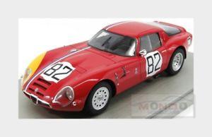 【送料無料】模型車 モデルカー スポーツカーアルファロメオクーペ#ニュルブルクリンクalfa romeo tz2 coupe 82 nurburgring 1967 trosh pilette tecnomodel 118 tm1865d