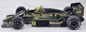 【送料無料】模型車 モデルカー スポーツカーアイルトンセナロータスルノーカラーリング118 ayrton senna 1986 lotus renault 98t with full livery