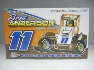 【送料無料】模型車 モデルカー スポーツカースケールブレットアンダーソンアンダーソンモータースポーツミゼット118 scale ramp;r brett anderson anderson motorsports 2008 midget