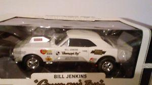 【送料無料】模型車 モデルカー スポーツカーシボレーカマロビルジェンキンス##スケールwhite 1967 chevy camaro ss amp bill jenkins grumpy039;s toy 3 118 scale