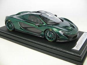 【送料無料】模型車 モデルカー スポーツカースケールマクラーレン118 scale tecnomodel mclaren p1 smerald green 2015 t18ex05e