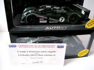 【送料無料】模型車 モデルカー スポーツカーベントレースピードルマン##2x 118 autoart bentley speed 8 le mans 2003 winner 7 signed 2nd place 8