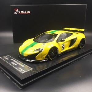【送料無料】模型車 モデルカー スポーツカーマクラーレンポンド#イエローグリーンストライプモデルグアテマラmclaren 650s lb works 5 yellow with green stripes j039;s models 118 gt spirit