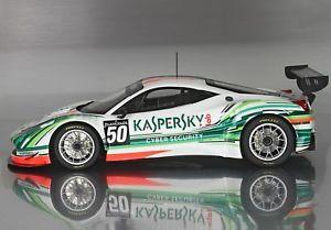 Model Car Model Car Sportscar Ferrari Guatemala Team Ferrari 458 Gt3 Team Kaspersky 2015 118 P18118kasp17 Bbr