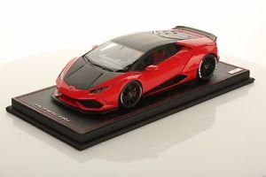 【送料無料】模型車 モデルカー スポーツカーmrlamborghini huracanrossoneromr collection lamborghini huracan spares rosso marsnero nemesis