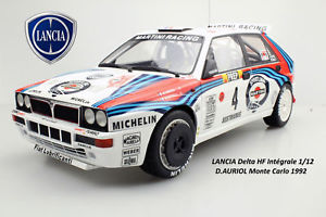 【送料無料】模型車 モデルカー スポーツカーランチアデルタフルオリオールトップブランド112 lancia delta hf full 16v d auriolmc 1992  118 top brands