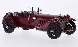 【送料無料】模型車 モデルカー スポーツカーアルファロメオグランスポーツダークレッドハンドルalfa romeo 6c 1750 gran sport, dark red, rhd, 118, cmc