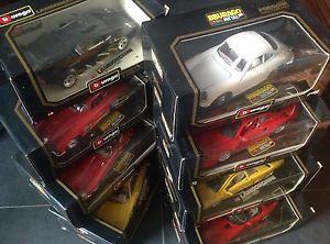 【送料無料】模型車 モデルカー スポーツカーモデルスケールレアビンテージbburago n8 car models scale 118 rarevintage