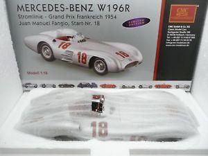【送料無料】模型車 モデルカー スポーツカーメルセデス#フランス#mmercedes w196r 18 fangio winner gp france 1954 cmc ref m128a