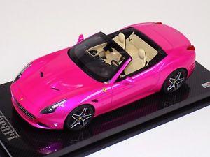【送料無料】模型車 モデルカー スポーツカーコレクションフェラーリカリフォルニアトップフラッシュピンクカーボンオープンベース118 mr collection ferrari california t open top flash pink carbon base